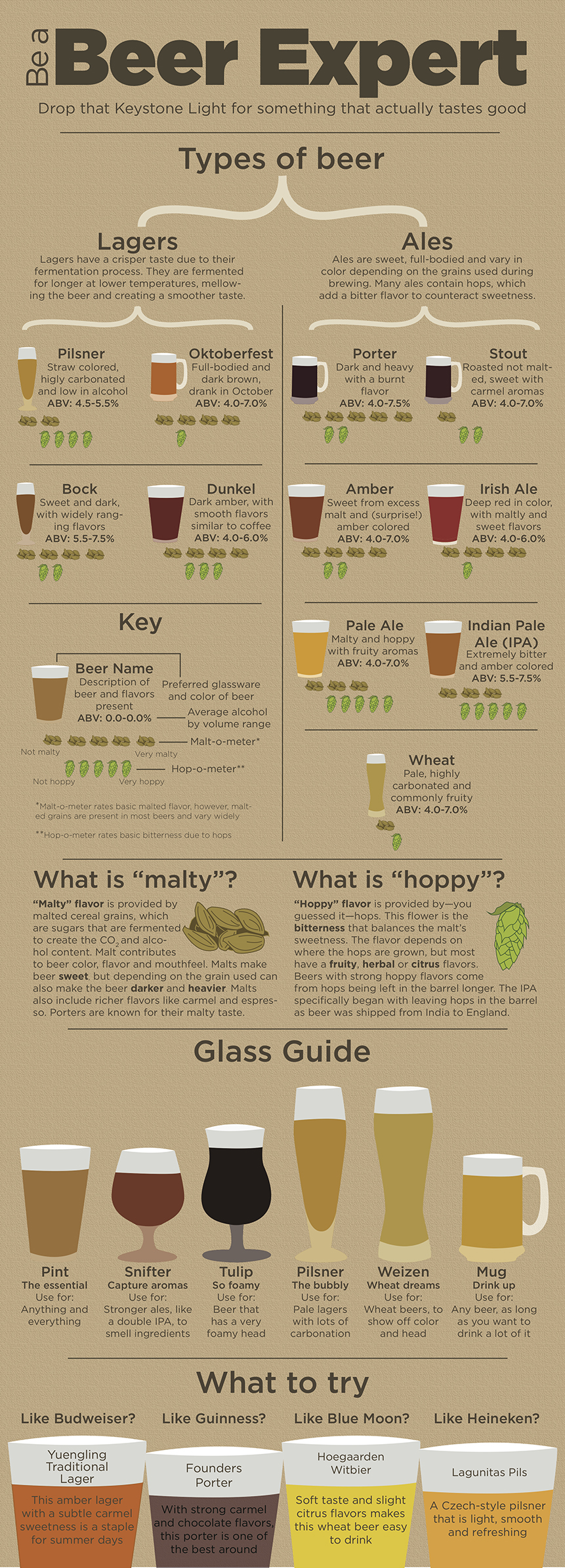 Different Styles Of Craft Beer